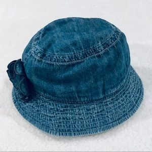 HANNAH ANDERSON Toddler Denim Hat with Flower Sz M